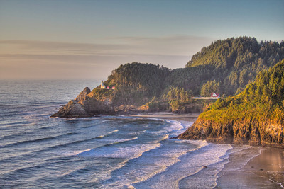 Heceta Head Lighthouse, Highway 1, Oregon, USA