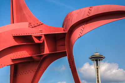 Alexander Calder, Scultupe Park, Seattle, Space Needle, The Eagle, Washington, USA