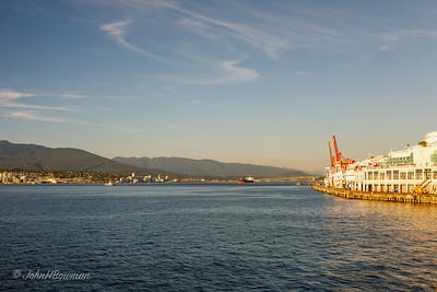 Vancouver Harbor at Canada Place (on right)