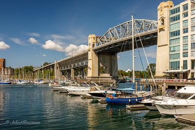 Burrard Bridge & Marina, False Creek - Vancouver