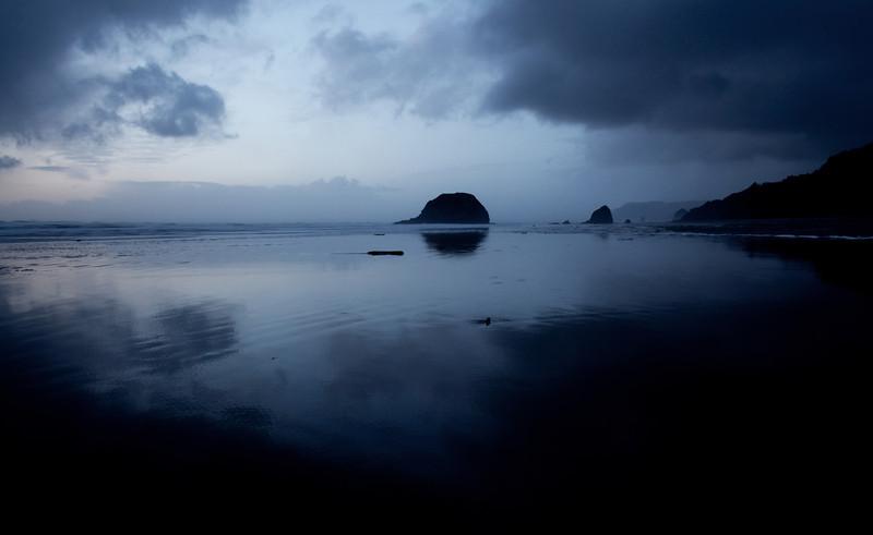 Oregon Coast at dusk