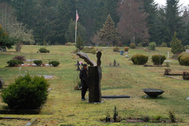 The cemetery on Vashon.