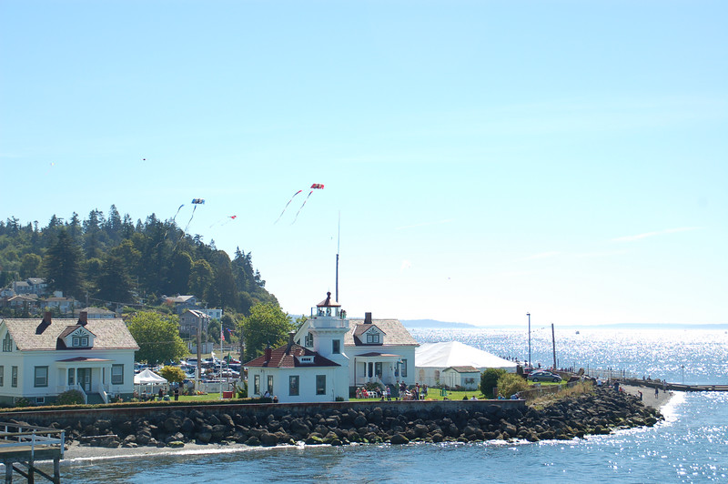 From the ferry: the Lighthouse Festival at Mukilteo