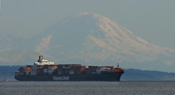 Admiralty Inlet. Mt. Rainier in the background