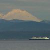 Clinton to Mukilteo ferries. Mt Baker in the background