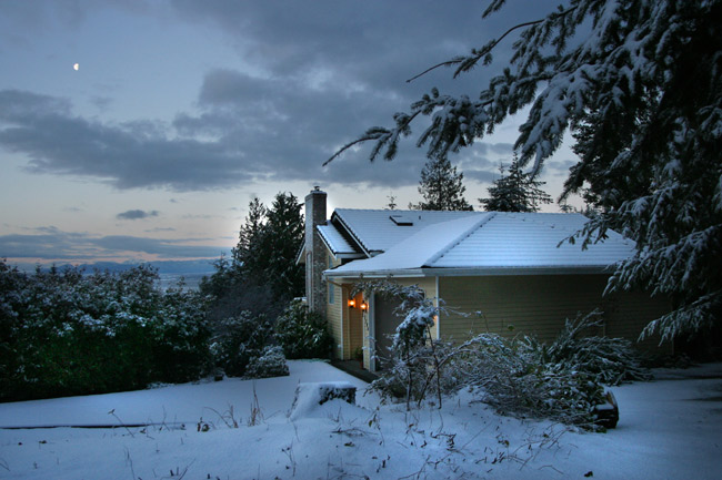 Home, sweet home. Freeland snow, January 28, 2008