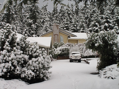 First snow of 2012. Freeland, Whidbey Island. January 17, 2012