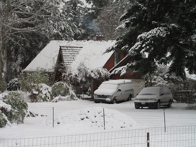 Fish Road. Day 2. First snow of 2012. Freeland, Whidbey Island. January 18, 2012