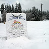 Closed due to Snow.  Langley, Whidbey Island. March 22, 2013