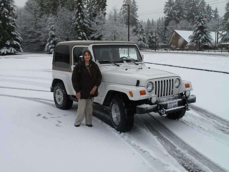 Jeep to the rescue.  Langley, Whidbey Island. March 22, 2013