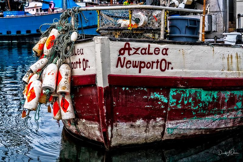 Crabbing boat in Newport, OR