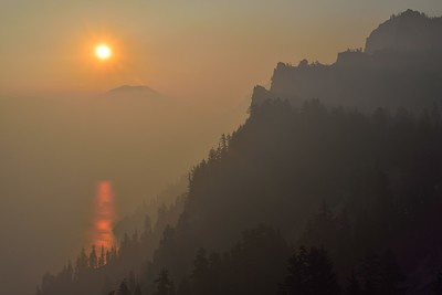 Smoky Sunrise, Crater Lake National Park, Oregon