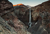 Loowit Falls, Mt. St. Helens. Loowit Canyon formed in a matter of about 15 years and over that time Loowit Falls has constantly evolved in appearance. When surveyed in 2011 it stood 186 feet tall. The brink of Loowit Falls has retreated upstream by 40 feet since 1994. Some time between 2006 and 2009 a smaller lower tier of the falls was buried almost entirely by a landslide and over the years there has been an increase in rockfall debris collecting at the base of Loowit Falls. Loowit Canyon is incredibly unstable and the height and appearance of the falls will most likely continue to evolve in the coming decades.