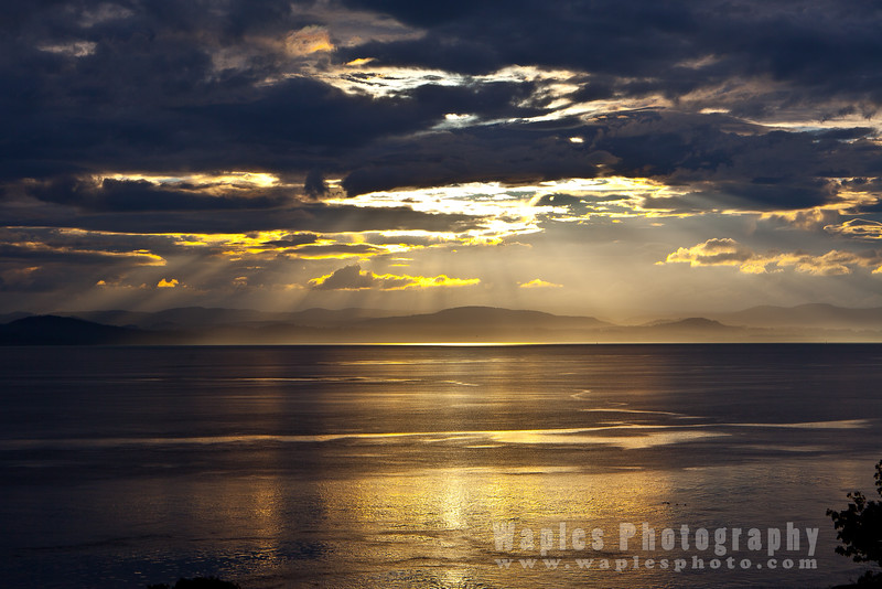 Sunset and Cloads over Haro Strait/Vancouver Island