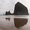 Haystack Rock at Cannon Beach, Oregon.