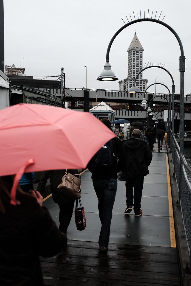 Rainy morning commute | March 2016 | Seattle, WA