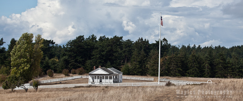 American Camp parade ground, officers' row at center.