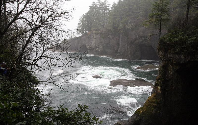 Cape Flattery.  Makah Nation land near Neah Bay, Washington. Most Northwest point in continental U.S.