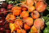 Golden beets. Pike Place Market.  Seattle, Washington.