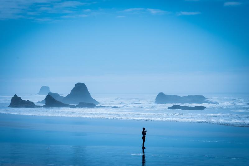 Meditating on Ruby Beach