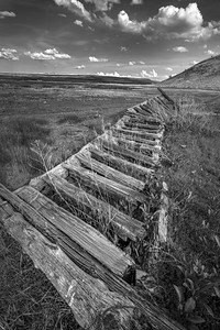 Broken Wooden Fence, Sagebrush Country, Southeastern Oregon