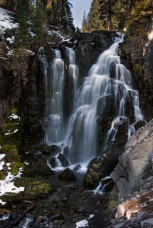 Kings Creek Falls, 50 feet tall, Lassen Volcanic National Park.