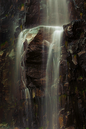 Waterfall from downpour, Mt. Rainier National Park, Washington