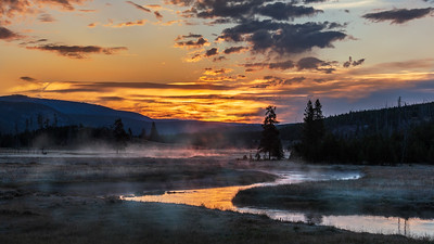 Gibbon River Sunrise, Yellowstone NP