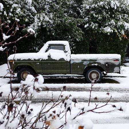F100 in the snow | Seattle, WA | February 2017