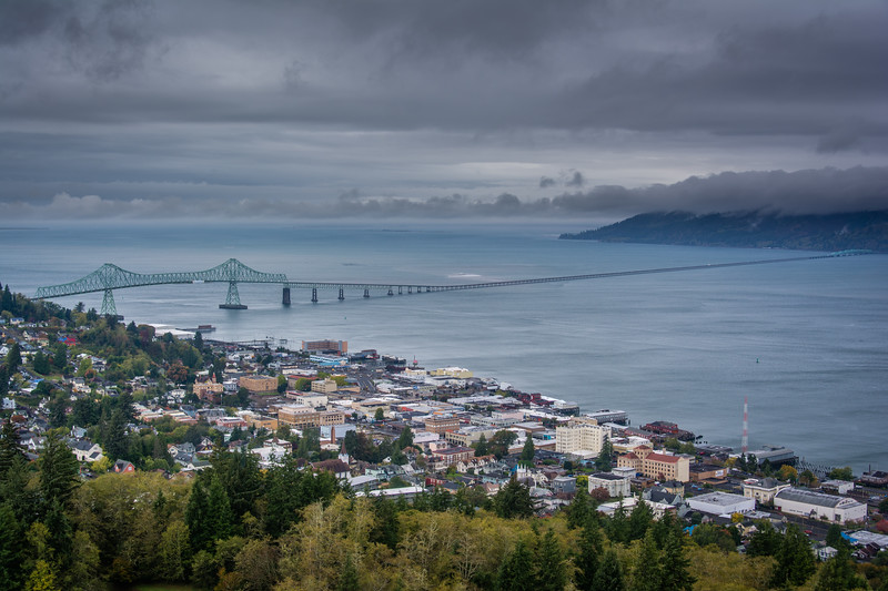 Astoria at the mouth of Columbia River