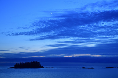 Crescent Moon over the Pacific
