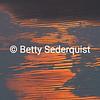 Abstract of Sunset on Sand, Bandon Beach, Oregon