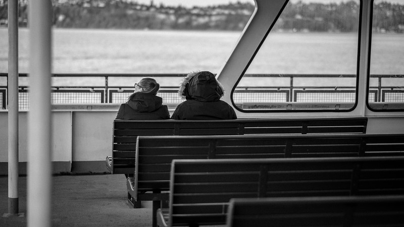 On a ferry to Seattle | December 2017