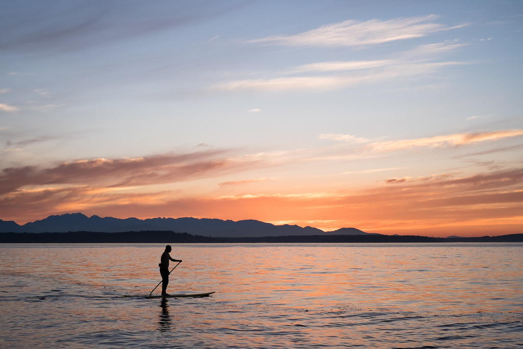 Paddleboarding in the Pacific Northwest