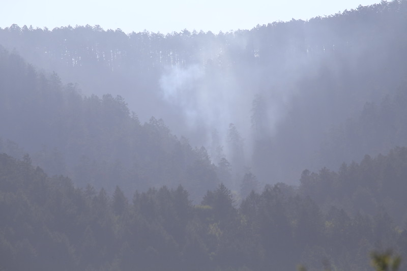 Flare up of Woodward Fire 10/21/2020 Above Olema
