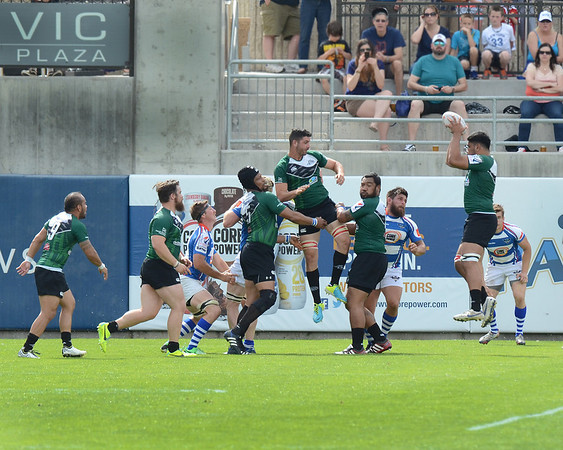 Glendale Raptors vs the San Francisco Golden Gate in a Pacific Rugby Premiership game at Infinity Park in Glendale, Colorado. May 3, 2014
