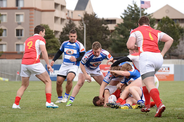 March 15 2014, Glendale, Colorado, USA, Week 7 of the Pacific Rugby Premiership League, Glendale Raptors vs Olympic Club.