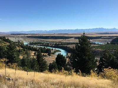Tekapo River from Cowan's Hill