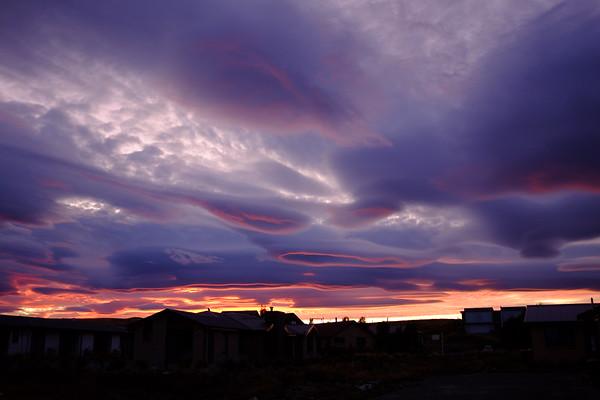 Lake Tekapo sunset with lenticular clouds
