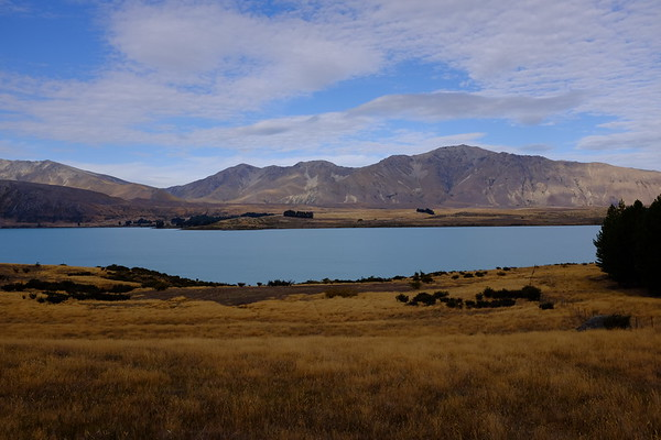 Looking east over Lake Tekapo to the Two Thumb Range