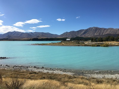 Lake Tekapo with the Church of the Good Shepherd