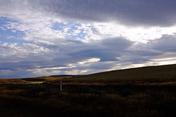 Lenticular clouds over the highlands