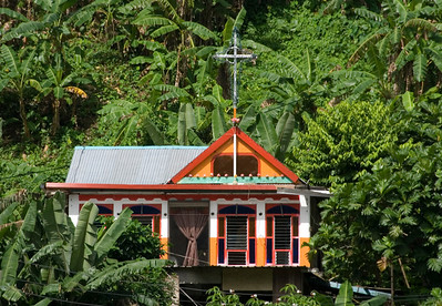 Pago Pago House on Hill in American Samoa