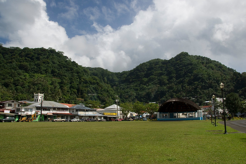 """""""Downtown"""" Pago Pago in American Samoa"""