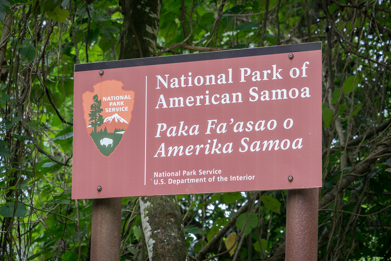 American Samoa National Park Sign