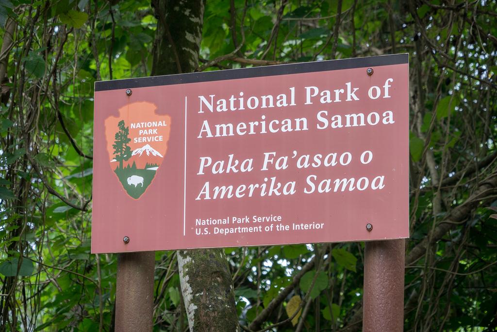 American Samoa National Park Sign