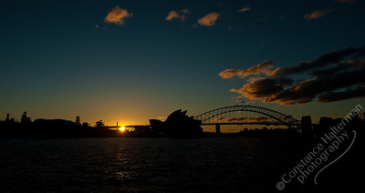 Sydney - Sydney Harbor sunset