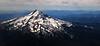 Aerial of Mt Hood - Cascade Range
