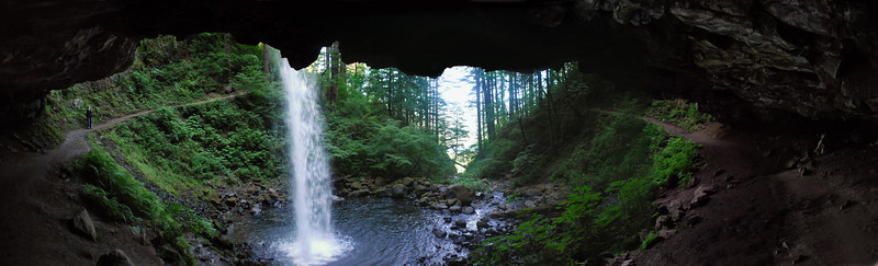 PonyTail Falls Panorama
