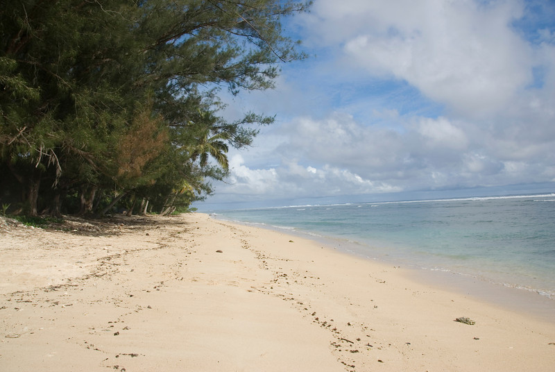7th favorite beach in the world: Beach on Rarotonga, Cook Islands